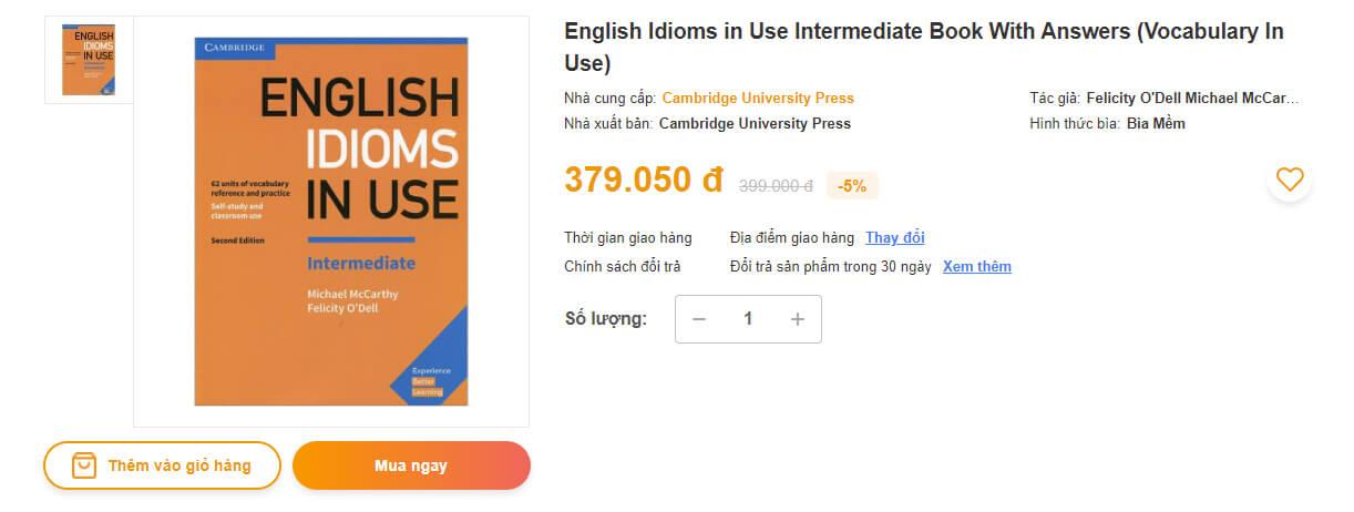 Mua sách English Idioms In Use ở đâu tốt chất lượng giá rẻ?