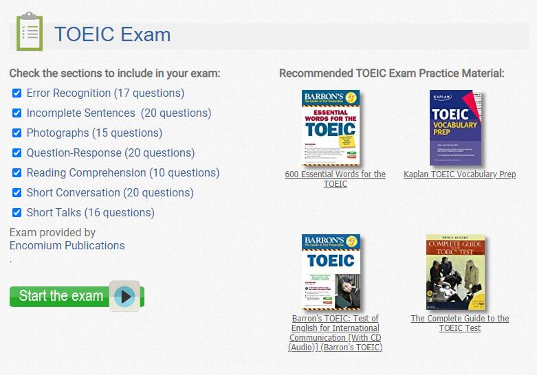 Website luyện thi toeic online