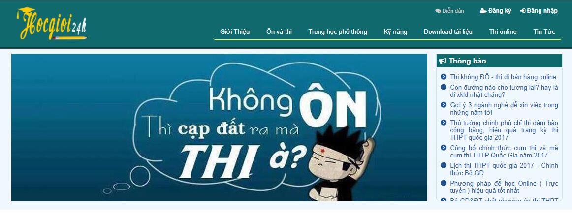 Website làm đề thi Đại Học môn Hóa Học Online Chuẩn