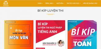 onthidaihoc.net Website luyện đề thi Đại Học Khối A