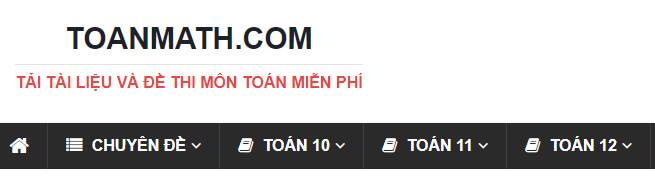 toanmath.com Website luyện đề thi Đại Học Khối A